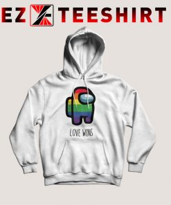 Among Us Love Wins Rainbow Hoodie
