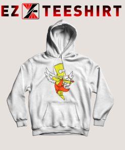 Bart Simpson Shoots Hearts Hoodie