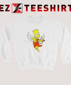 Bart Simpson Shoots Hearts Sweatshirt