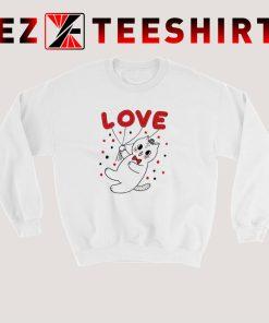 Cat Valentine Day Sweatshirt