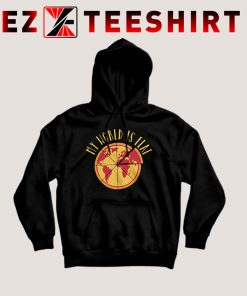 My World Is Flat Pizza Hoodie
