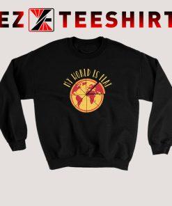 My World Is Flat Pizza Sweatshirt