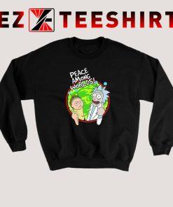 Peace Among Worlds Rick Morty Sweatshirt