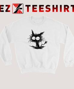 Black Unkempt Kitten Sweatshirt