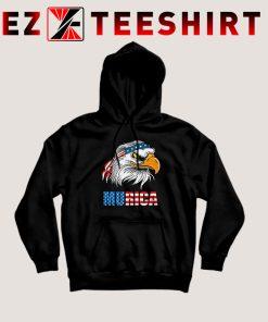 Patriotic Eagle Mullet Murica Hoodie