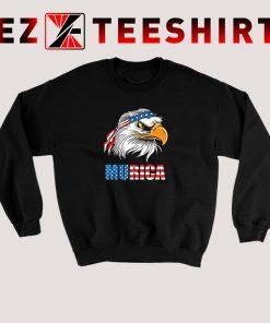 Patriotic Eagle Mullet Murica Sweatshirt
