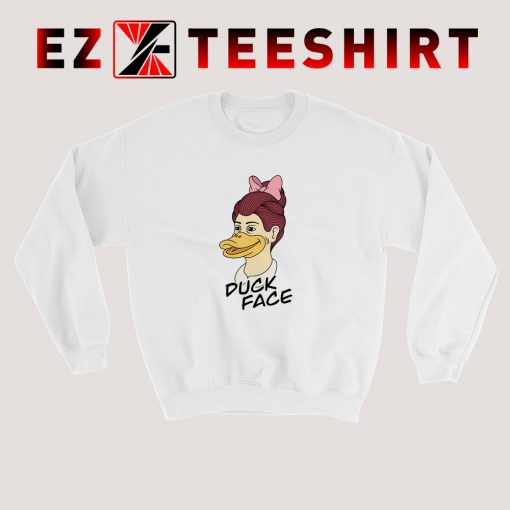 Duck Face Girl Sweatshirt